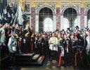 油絵 Anton von Wernerの名作_ドイツ帝国成立の宣言