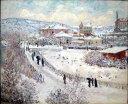 油絵 モネ_ アルジャントゥイユの雪景色