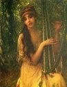 油絵 Antoine Auguste Ernest Hebert_音楽
