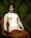 油絵 Kenyon Cox_鏡を手にする裸婦
