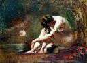 油絵 William Etty_月明かりの裸婦
