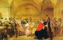 油絵 George Elgar Hicksの名作_配当の日