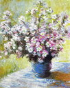 油絵 クロード・モネの名作_花瓶の花