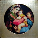 特価漆絵 ラファエロの名作_小椅子の聖母 金箔額付