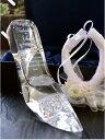 【プロポーズ プレゼント アイテム】シンデレラのガラスの靴!ガラスの靴に名入れ記念日を彫刻。リングピ