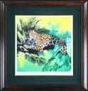 【送料無料/絵画・版画】【中古】ベッペ・スパダチーニ(Beppe Spadacini) Hunting Jaguar本人 鉛筆 サイン