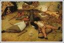 複製画 送料無料 プレミアム 学割 絵画 油彩画 油絵 複製画 ピーテル・ブリューゲル「怠け者の天国」 F20(72.7×60.6cm)サイズ プレゼント ギフト 風水 名画 絵画 油絵複製画 オーダーメイド 無料額縁付き