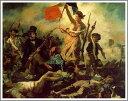 【送料無料】絵画:ウジェーヌ・ドラクロワ「民衆を率いる自由の女神」●サイズF15(65.2×53.0cm)●プレゼント・ギフト・風水にも人気な名画の絵画(油絵複製画)オーダーメイド制作◆無料で選べる額縁付き!◆:油彩画