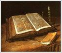 複製画 送料無料 プレミアム 学割 絵画 油彩画 油絵 複製画 模写フィンセント・ファン・ゴッホ「開かれた聖書のある静物」 F12(60.6×50.0cm)サイズ プレゼント ギフト 贈り物 名画 オーダーメイド 額付き