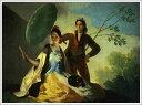 複製画 送料無料 プレミアム 学割 絵画 油彩画 油絵 複製画 模写フランシスコ・デ・ゴヤ「日傘」 F15(65.2×53.0cm)サイズ プレゼント ギフト 贈り物 名画 オーダーメイド 額付き
