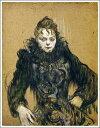【送料無料】絵画:ロートレック「黒いボアの女」●サイズF12(60.6×50.0cm)●プレゼント・ギ
