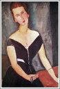 【送料無料】絵画:アメデオ・モディリアーニ「ヴァン・ムイデン夫人の肖像」●サイズF20(72