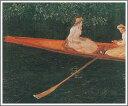 複製画 送料無料 プレミアム 学割 絵画 油彩画 油絵 複製画 模写クロード・モネ「エブト川の船遊び」 F12(60.6×50.0cm)サイズ プレゼント ギフト 贈り物 名画 オーダーメイド 額付き
