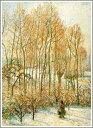 【送料無料】絵画:カミーユ・ピサロ「雪に注ぐ朝日〜エプトにて〜」●サイズF15(65.2×53.0c