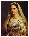 複製画 送料無料 プレミアム 学割 絵画 油彩画 油絵 複製画 模写ラファエロ・サンティ「ヴェールを被る婦人の肖像」 F8(45.5×38.0cm) サイズ プレゼント ギフト 贈り物 名画 オーダーメイド 額付き