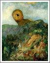【送料無料】絵画:オディロン・ルドン「キュクロプス」●サイズF6(41.0×31.8cm)●プレゼント