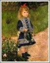 複製画 送料無料 プレミアム 学割 絵画 油彩画 油絵 複製画 模写ルノアール(ルノワール)「じょうろを持つ少女(ギスカンヌ嬢)」 F8(45.5×38.0cm) サイズ プレゼント ギフト 贈り物 名画 オーダーメイド 額付き