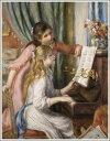 複製画 送料無料 プレミアム 学割 絵画 油彩画 油絵 複製画 模写 ルノアール(ルノワール)「ピアノに寄る娘たち」 F6(41.0×31.8cm)サイズ プレゼント ギフト 贈り物 名画 オーダーメイド 額付き