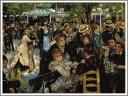 複製画 送料無料 プレミアム 学割 絵画 油彩画 油絵 複製画 ルノアール(ルノワール)「ムーラン・ド・ラ・ギャレット」 F20(72.7×60.6cm)サイズ プレゼント ギフト 風水 名画 絵画 油絵複製画 オーダーメイド 無料額縁付き
