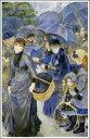 複製画 送料無料 プレミアム 学割 絵画 油彩画 油絵 複製画 模写ルノアール(ルノワール)「雨傘」 F15(65.2×53.0cm)サイズ プレゼント ギフト 贈り物 名画 オーダーメイド 額付き