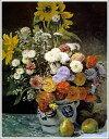 複製画 送料無料 プレミアム 学割 絵画 油彩画 油絵 複製画 模写ルノアール(ルノワール)「花瓶の花3」 F15(65.2×53.0cm)サイズ プレゼント ギフト 贈り物 名画 オーダーメイド 額付き