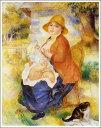 複製画 送料無料 プレミアム 学割 絵画 油彩画 油絵 複製画 模写ルノアール(ルノワール)「授乳する母親」 F15(65.2×53.0cm)サイズ プレゼント ギフト 贈り物 名画 オーダーメイド 額付き