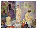 【送料無料】絵画:ジョルジュ・スーラ「ポーズをとる女たち」●サイズF12(60.6×50.0cm)●プ
