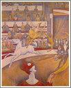 【送料無料】絵画:ジョルジュ・スーラ「サーカス」●サイズF20(72.7×60.6cm)●プレゼント・