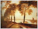 複製画 送料無料 プレミアム 学割 絵画 油彩画 油絵 複製画 模写ウィリアム・ターナー「モートレイクテラス」 F8(45.5×38.0cm) サイズ プレゼント ギフト 贈り物 名画 オーダーメイド 額付き