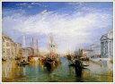 複製画 送料無料 プレミアム 学割 絵画 油彩画 油絵 複製画 模写ウィリアム・ターナー「大運河、ヴェネチア」 F10(53.0×45.5cm)サイズ プレゼント ギフト 贈り物 名画 オーダーメイド 額付き