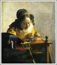 【送料無料】絵画:ヨハネス・フェルメール「レースを編む女」●サイズF10(53.0×45.5cm)●プ