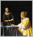 【送料無料】絵画:ヨハネス・フェルメール「手紙を書く女と召使」●サイズF15(65.2×53.0cm)
