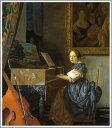 【送料無料】絵画:ヨハネス・フェルメール「ヴァージナルの前に座る女性」●サイズF15(65.2