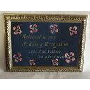 A3サイズ。和紙の花がきれい和紙の花のウェルカムボードミラーA3サイズ結婚式を飾ります0403ウィークエンドセール5
