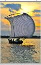 夕焼けで黄金に光る霞ヶ浦と帆引き船 茨城 風景写真タペストリー 188×111.8cm TAP-12壁掛け 壁飾り 【送料無料】