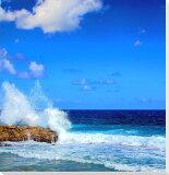 沖縄 北大東島の海8 クロス地 風景写真パネル インテリア アート 壁掛け 27.3×27.3cm CLO-28-S3【楽ギフ包装】【楽ギフのし宛書】【楽ギフ名入れ】