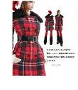 ドールズフィギュア cc257 1/6フィギュア用衣装 クリスマスガール チェック柄コートセット(DOLLSFIGURE CC257)