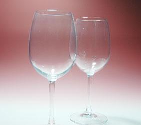 結婚祝い[オーバル型]ワイングラス(ペア)ブーケ柄-名入れギフト