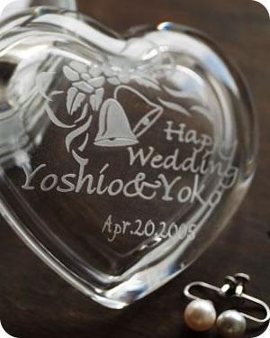 【名入れ無料】御結婚の記念にガラスケースの贈り...の紹介画像2