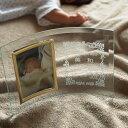 【名入れ無料】ご出産祝い・ご出産内祝いにフォトフレーム・写真立てを名入れして記念の贈り物としてプレゼントにしてみませんか。【フォトフレーム縦型 囲み赤ちゃん柄】...