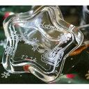 ショッピングジュエリーボックス 【名入れ】ガラスケース(クリスマス柄)星型 【小物入れ ジュエリーボックス 指輪 リング 収納 ガラス 贈り物 記念品 ギフト プレゼント おすすめ おしゃれ かわいい 女性 友達 友人 結婚祝い 内祝い 婚約祝い 結婚記念 誕生日 クリスマス】