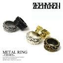 ZEPHYREN(ゼファレン) METAL RING -THORN- zea2572【メンズ リング 指輪】【メール便可】ストリート