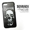 ZEPHYREN ゼファレン i-Phone 7 CASE -SKULL HEAD- zephyren メンズ アクセサリー アイフォンケース アイホンケース モバイルケース 携帯ケース おしゃれ かっこいい ストリート メール便可