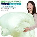 【日本全国対応】羽毛布団リフォーム《洗える機能:フィット型》クイーンを→クイーンへ