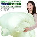 【日本全国対応】羽毛布団リフォーム《森林浴機能:ボリュームアップ》クイーンを→クイーンへ