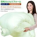 【日本全国対応】羽毛布団リフォーム《吸湿発熱機能:オールシーズン》クイーンを→クイーンへ