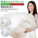 【日本全国対応】羽毛布団リフォーム《スタンダード・スーパーデラックスコース》セミダブルを→セミダブルへ