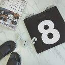 RoomClip商品情報 - 白黒 BIG 日めくりカレンダー Daily calendar 万年 数字 ナンバー 30cm×30cm ブラック/ホワイト 卓上 モノトーン 撮影 インスタジェニック【art of black】
