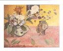 【アートポスター】日本の版画のある静物(60cm×80cm) -ゴーギャン-