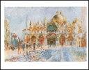 【アートポスター】ヴェネツィア、サン・マルコ広場(40cm×50cm) -ルノアール-